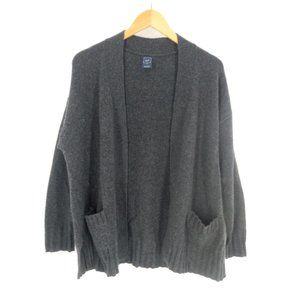 Gap Cashmere Open Front Sweater Womens XS Gray